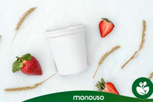 Qual é a capacidade de um recipiente de iogurte?