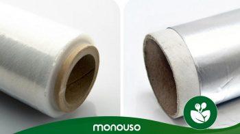 Utilização de folha de alumínio ou película aderente na cozinha