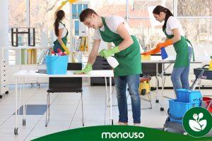 Produtos de limpeza para assegurar a higiene no escritório